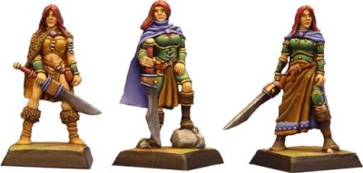 Die Kriegerin (Dreistufen-Charakter)