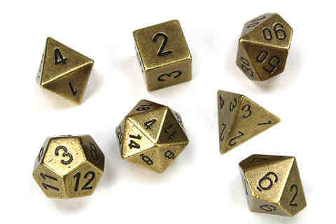 Solid Metal Old Brass Colour Poly 7 die set