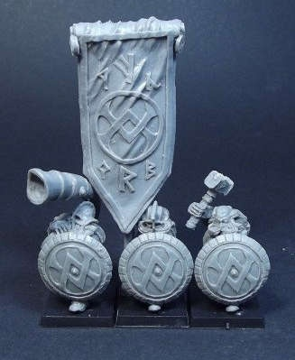 Dwarves with Shields Command