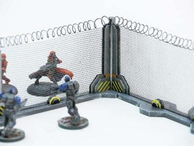 Schutzzaun-Bausatz Stahl, (4 Stück)