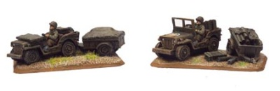 Jeep & Trailer (2x Resin)