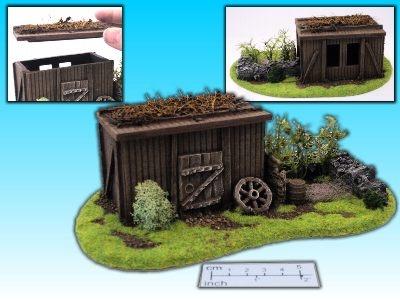 Geländestück Hütte