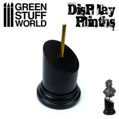 Tapered Round Bust Plinth 5x5cm Black