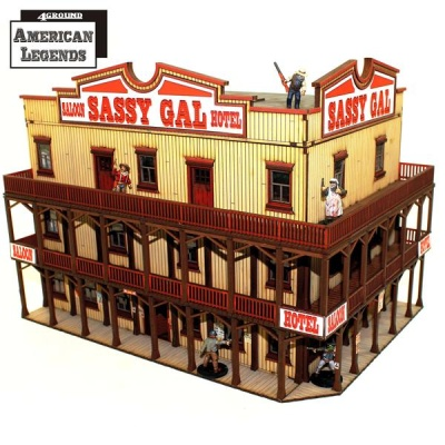 Feature Building 7: The Sassy Gal Saloon
