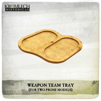 Weapon Team Tray (for two prone models) (5)