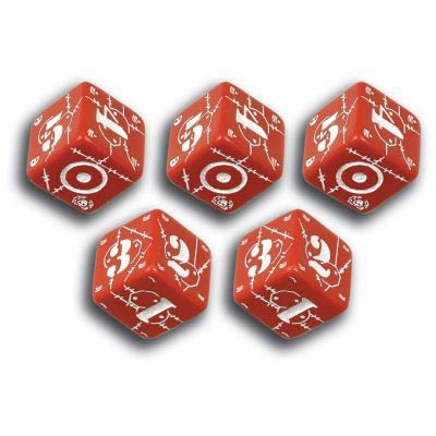Battle Dice UK Red & White (5)