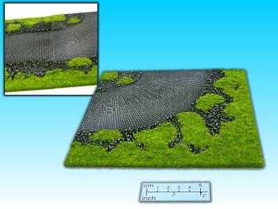 Geländestück Pflasterstrasse 90 Grad