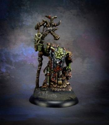 Reaper Bones Black Surkar, Orc Shaman (1)
