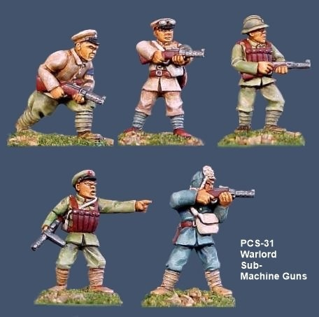 Warlord Soldiers w/Sub Machine Guns