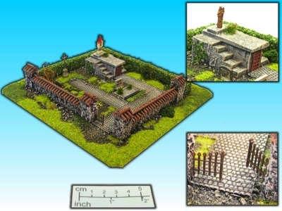 Geländestück Friedhof (15mm)