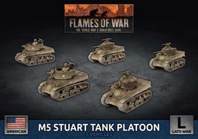 M5 Stuart Light Tank Platoon (Plastic)