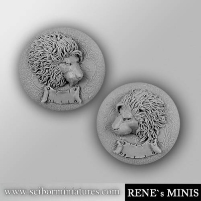 Royal Lion Reliefs Set 2 (2) (OOP)