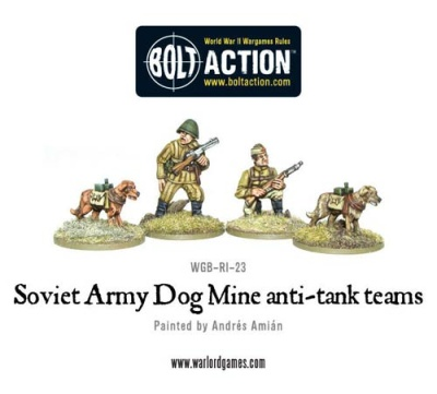 Soviet Army Dog Mine anti-tank teams
