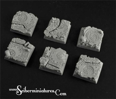 Celtic Ruins 20mm square base (4)