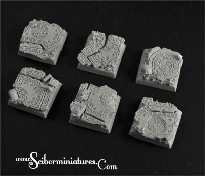 Celtic Ruins 20mm square base (4)