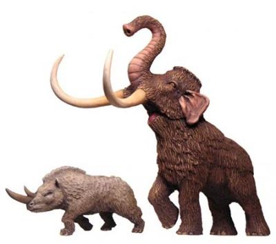 Mammouth & Rhinoceros
