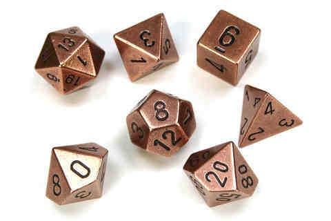 Solid Metal Copper Colour Poly 7 die set