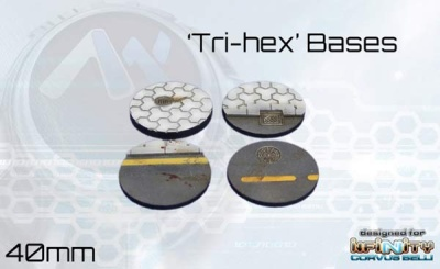 Tri-Hex Bases - 40mm round (4)