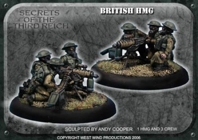 British HMG Team (3 crew, 1 gun)