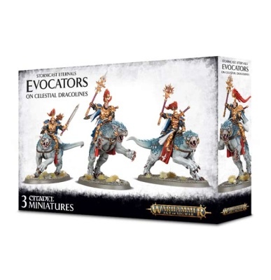 Stormcast Eternals: Evocators on Celestial Dracolines