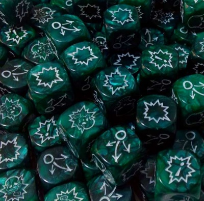 Block Dice Set PEARL GREEN (3)