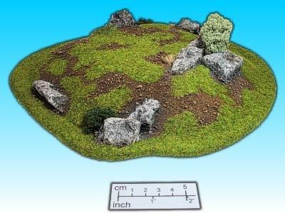 Geländestück Felshügel