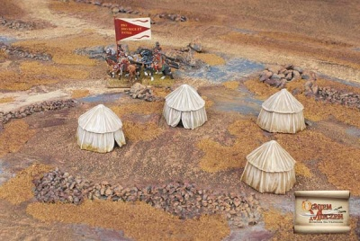 Eastern style military tents 3