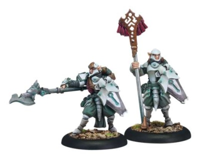 Retribution Houseguard Halberdier Officer & Standard Bearer