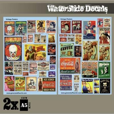 Waterslide Decals - Vintage Posters