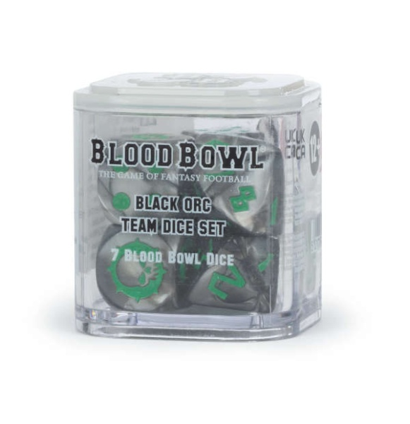Blood Bowl: Black Orc Team Dice