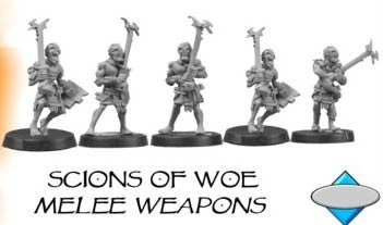 SCIONS OF WOE, WITH MELEE WEAPONS (4)