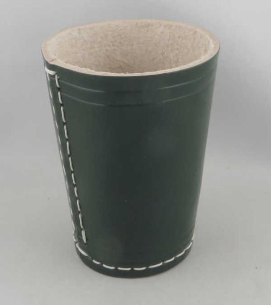 Dice Cup - Würfelbecher Leder GRÜN