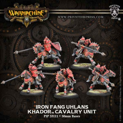 Khador Iron Fang Uhlans Cavalry Unit (5)