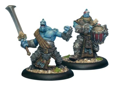 Trollblood Fennblade Officer & Drummer Unit Attachment