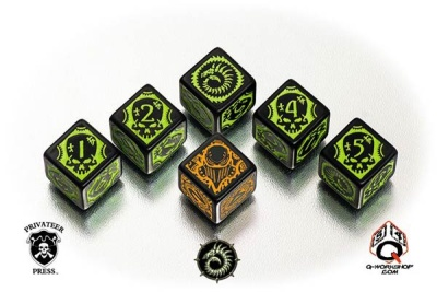 Warmachine Cryx Faction Dice (6)