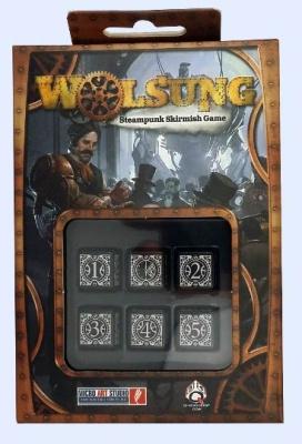WOLSUNG Dice - Black (6)