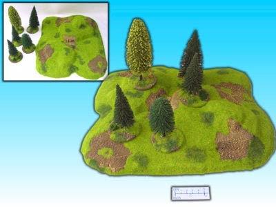 Geländestück Hügel m. Wald (6)
