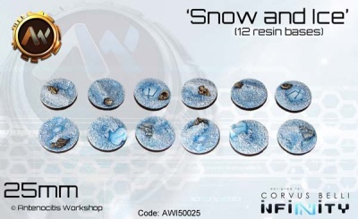 Snow & Ice Bases 25mm (12)