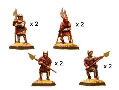 Hundred Years War Halberdiers (8)