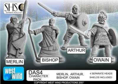 Character Pack. Merlin, Arthur, Bishop, Owai