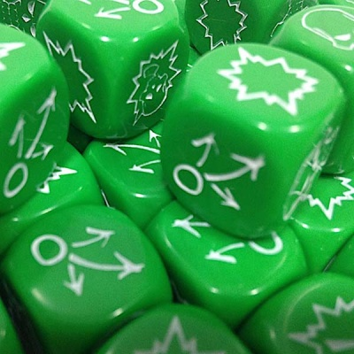 Block Dice Set OPAQUE GREEN (3)