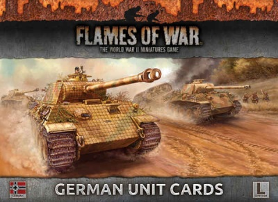 German Unit Cards (Late War)