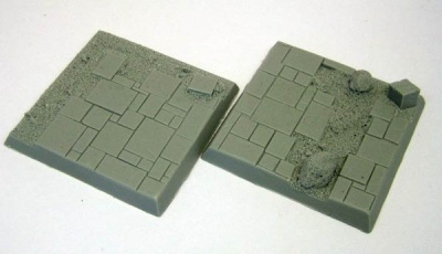 Square Base - Slate Ruins 50mm (2)