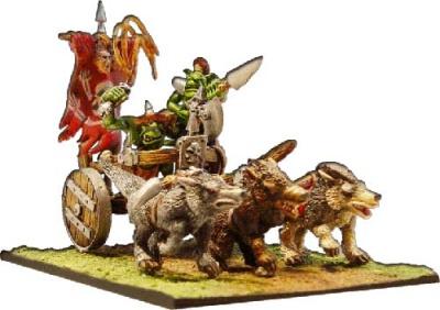 Streitwagen der Goblins (2Wölfe+2Fig.)