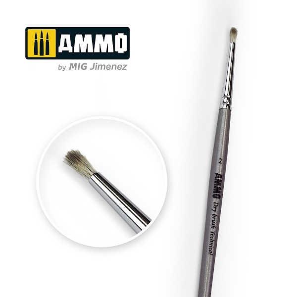 AMMO Drybrush Technical Brush #2