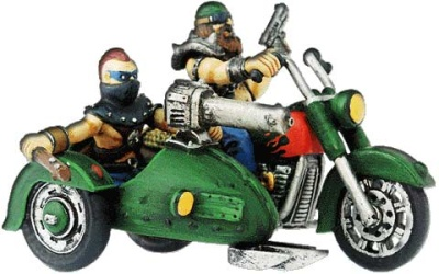 Motorrad mit Seitenwagen (1+2)