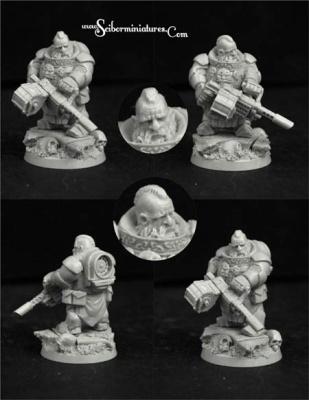 28mm/30mm SF Dwarf Marine #2 (1)
