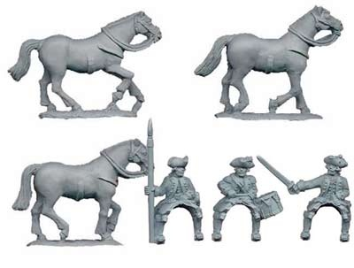 Austrian Dragoon Command (3 figs)