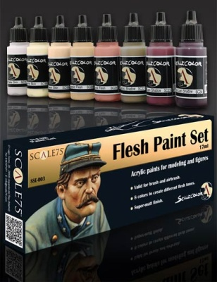 Scale 75: Flesh Paint Set (8)