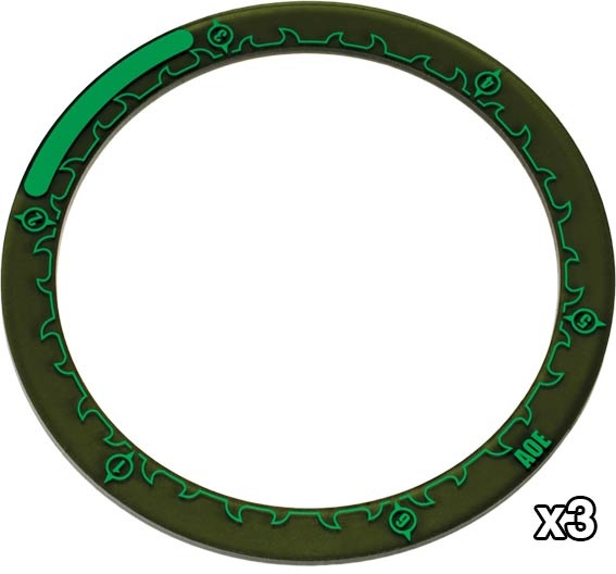 "Hordes 4"" AOW Ring Markers (3)"